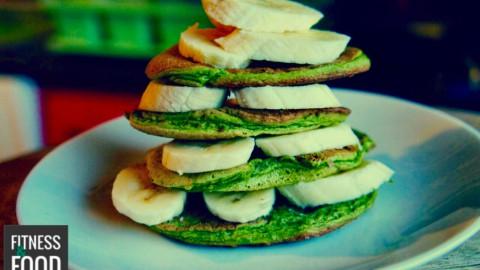 Matcha Protein-Pancakes
