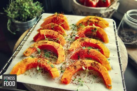 Kürbis-Wedges aus dem Ofen