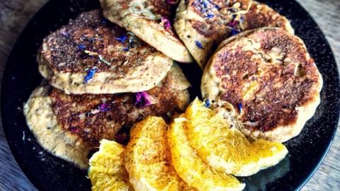 Orangen-Nuss Protein-Pancakes