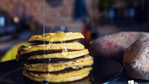 Schnelle Süßkartoffel Pancakes