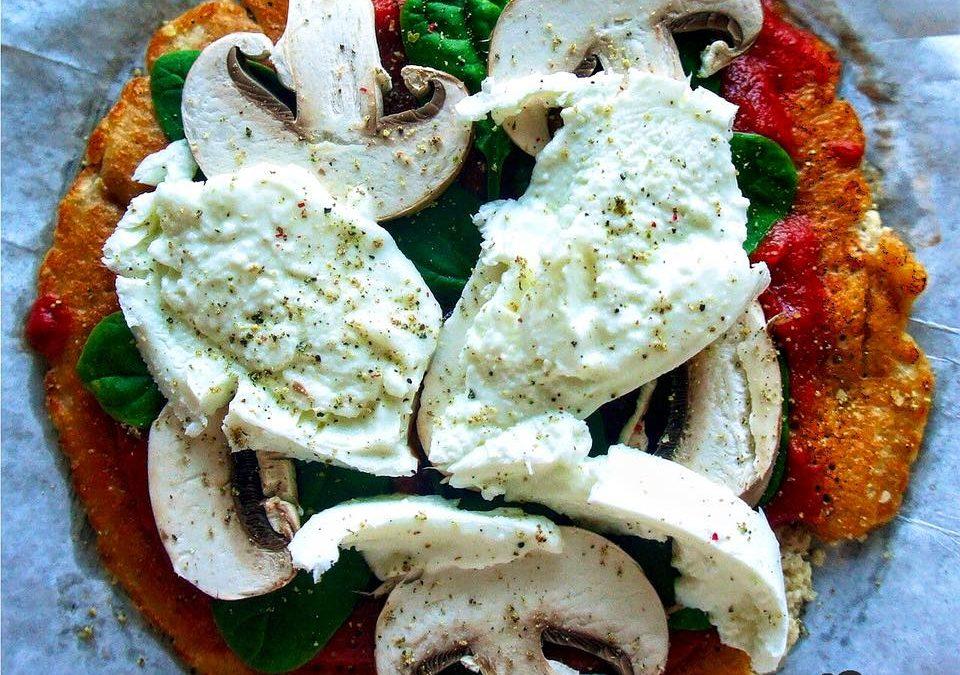 Schnelle Eiweiß-Pizza