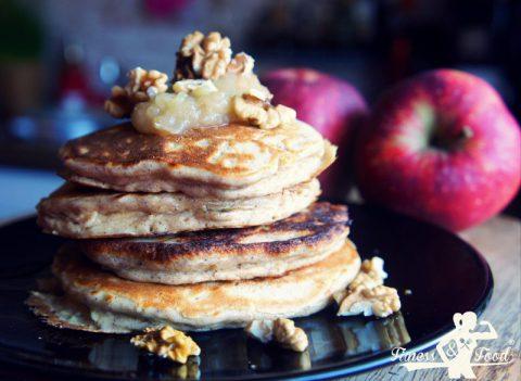 Saftige Apfel-Joghurt (Protein) Pancakes