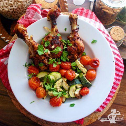 BBQ marinierte Hähnchenschenkel