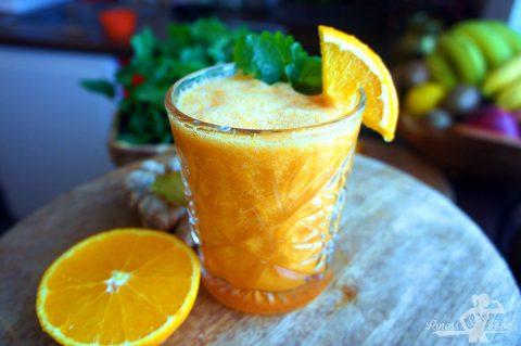 Orange-Ingwer Vitamin Smoothie