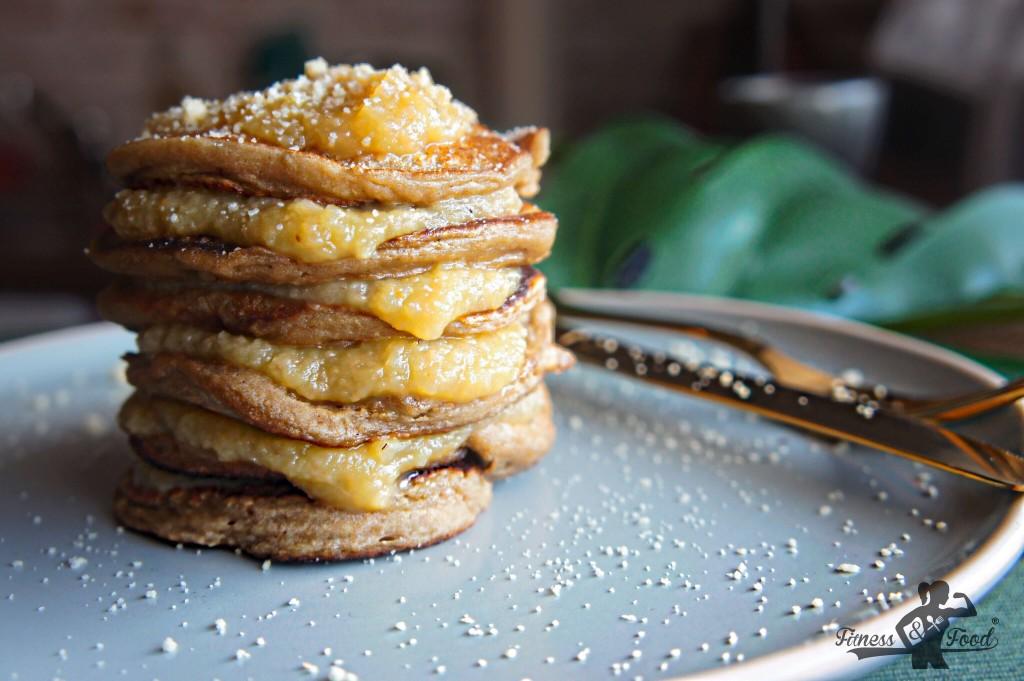 vegane Apfelmus Pancakes