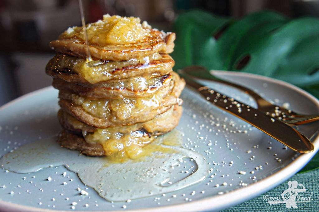 Pancakes ohne Ei, Milch und Weizen