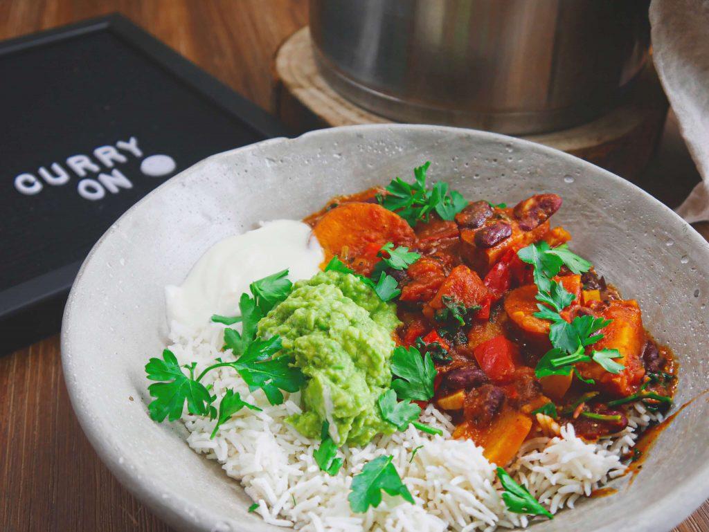 gesundes Curry, vegan