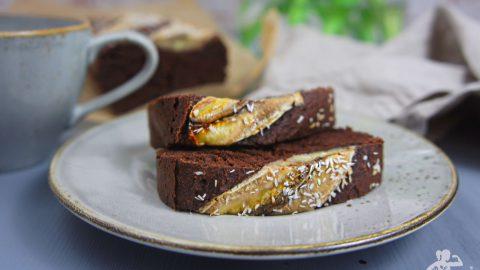 Schoko-Bananen Kuchen, glutenfrei & vegan