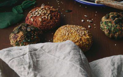 Glutenfreie Veggie-Brötchen