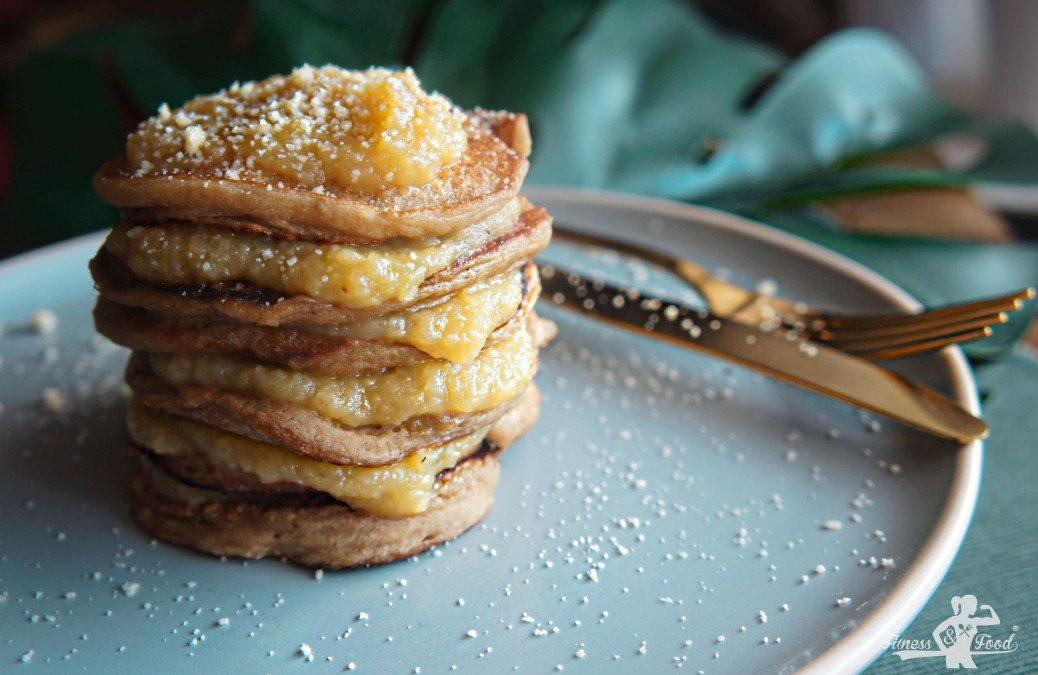 Glutenfreie Apfelmus Pancakes – ei- und milchfrei