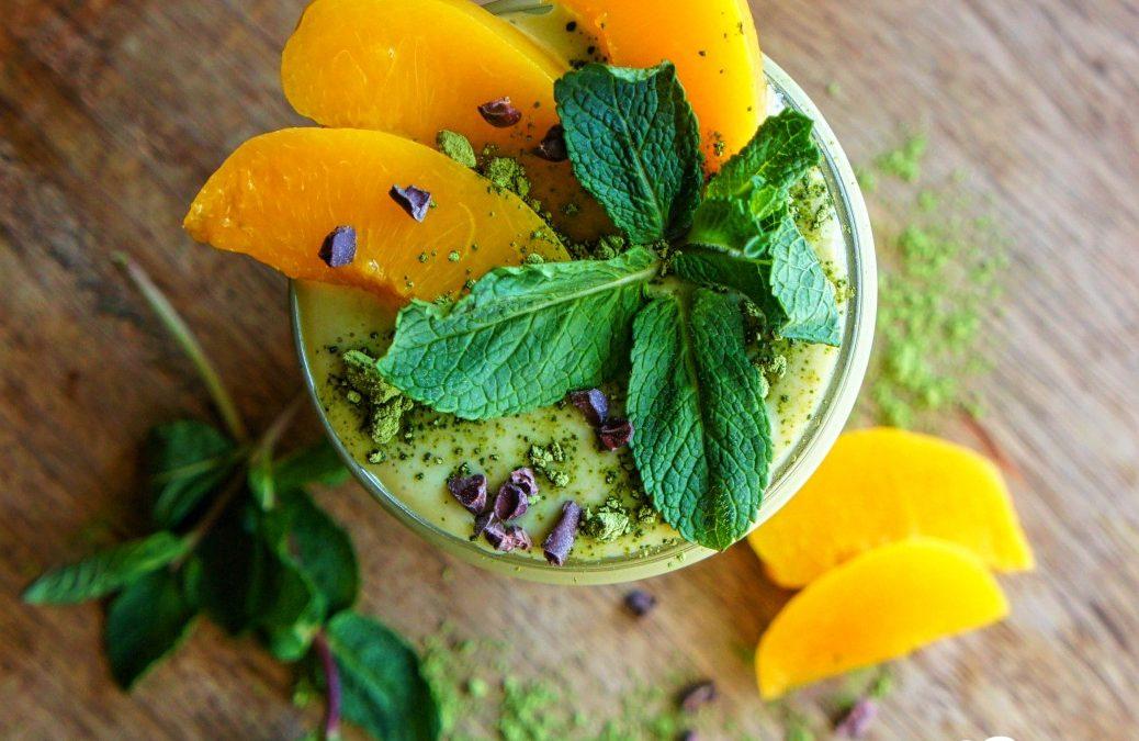 Fitness & Food Pfirsich-Matcha Lassi